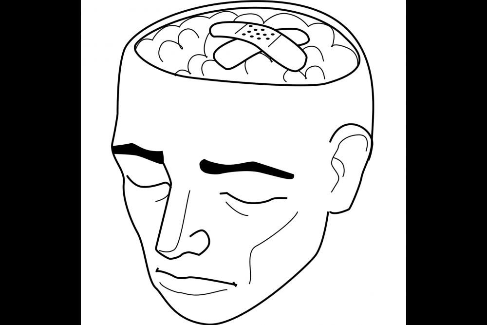 мозг, болезнь, графика