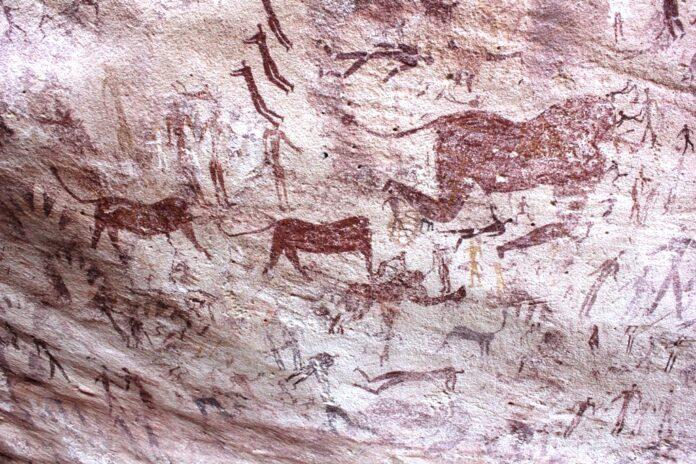 Рисунок, пещера, наскальная живопись