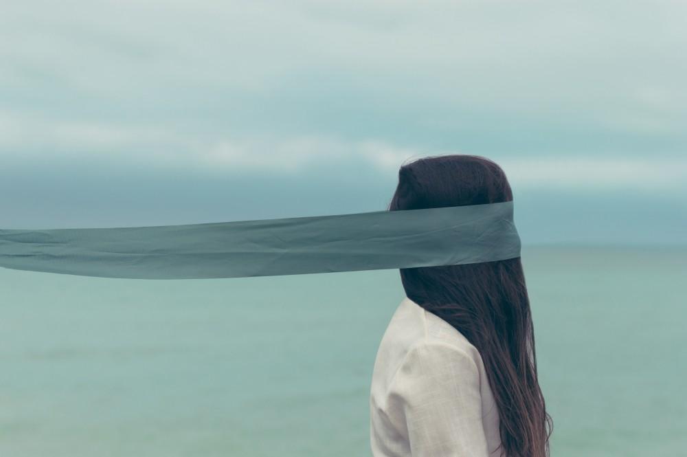 страх, слепой, море