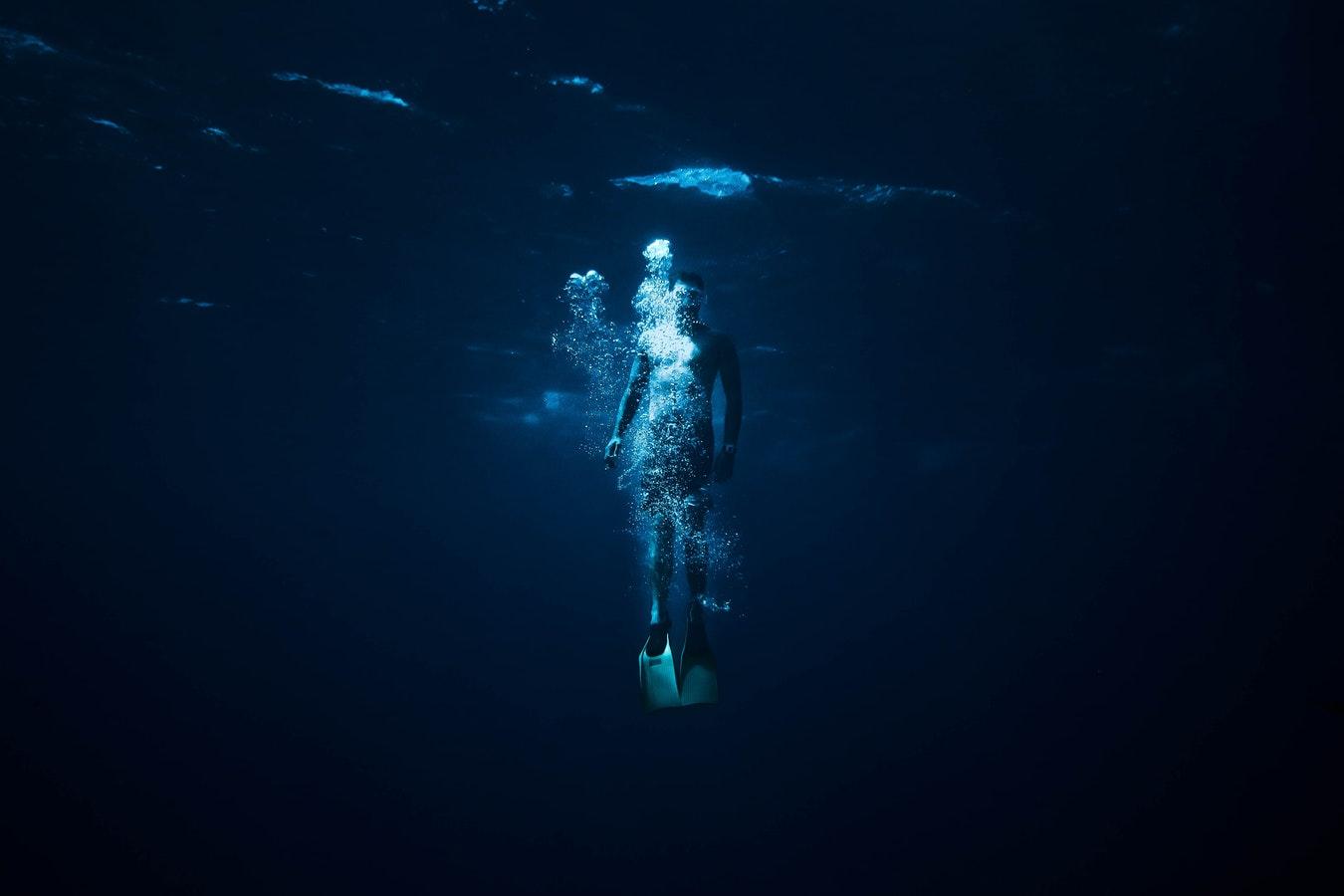 Под водой, дыхание, нырять