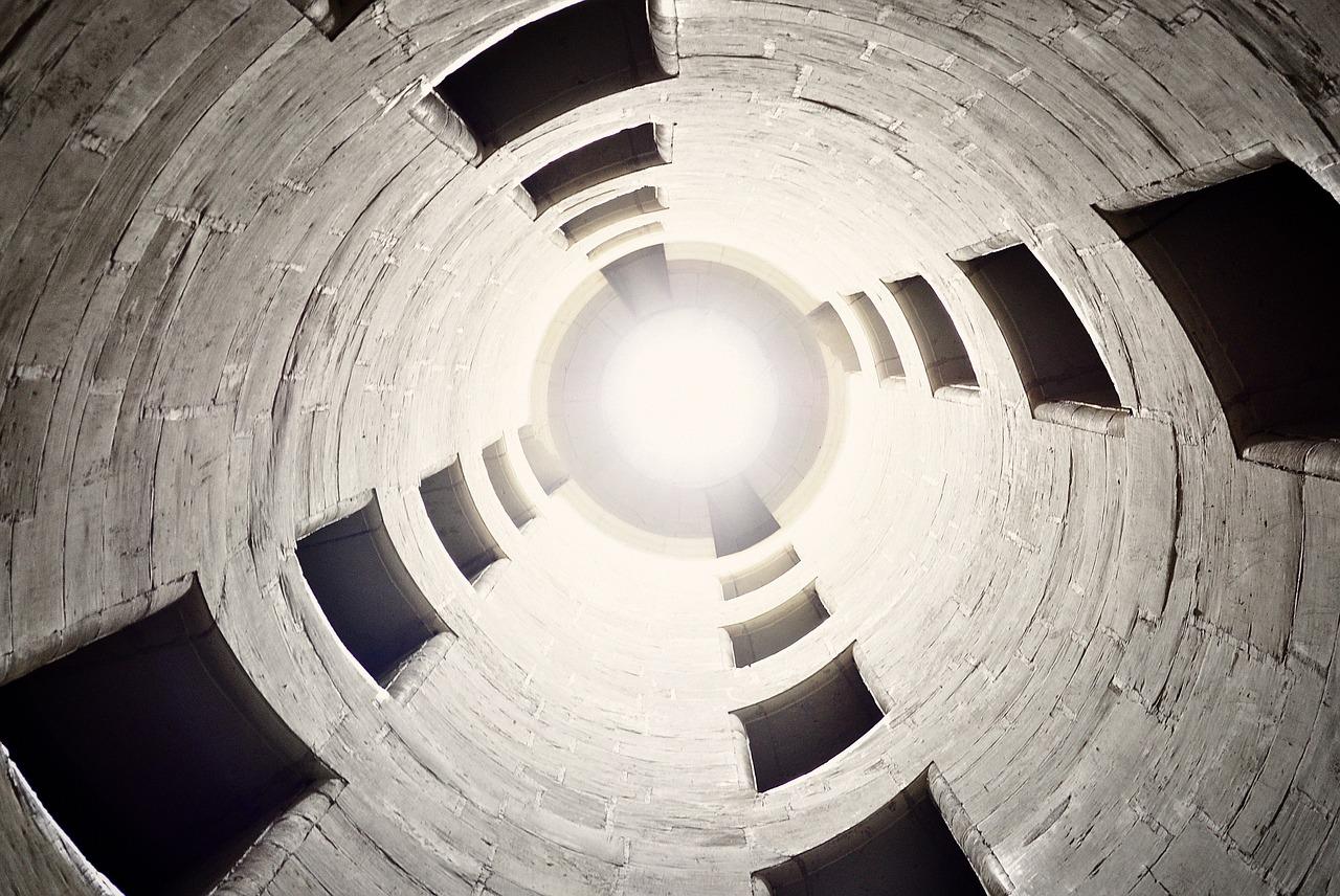 бетон, тунель, свет