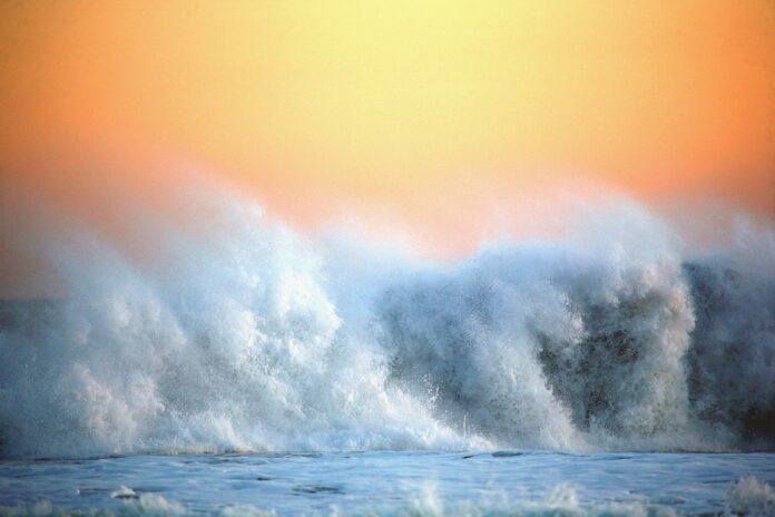 океан, шторм, волна