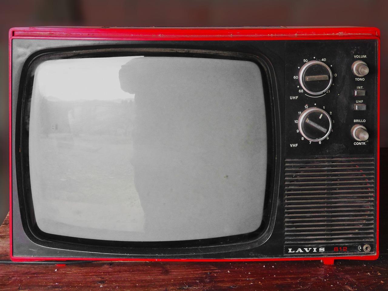 старый, телевизор, винтаж