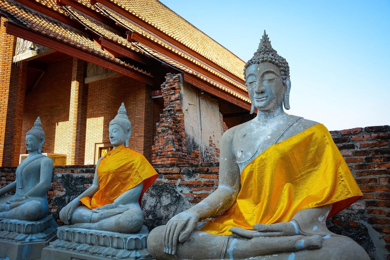 Скульптуры Будды в Тайланде
