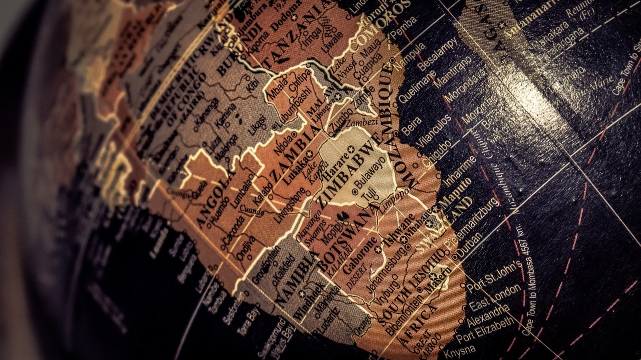 африка, карта, глобус