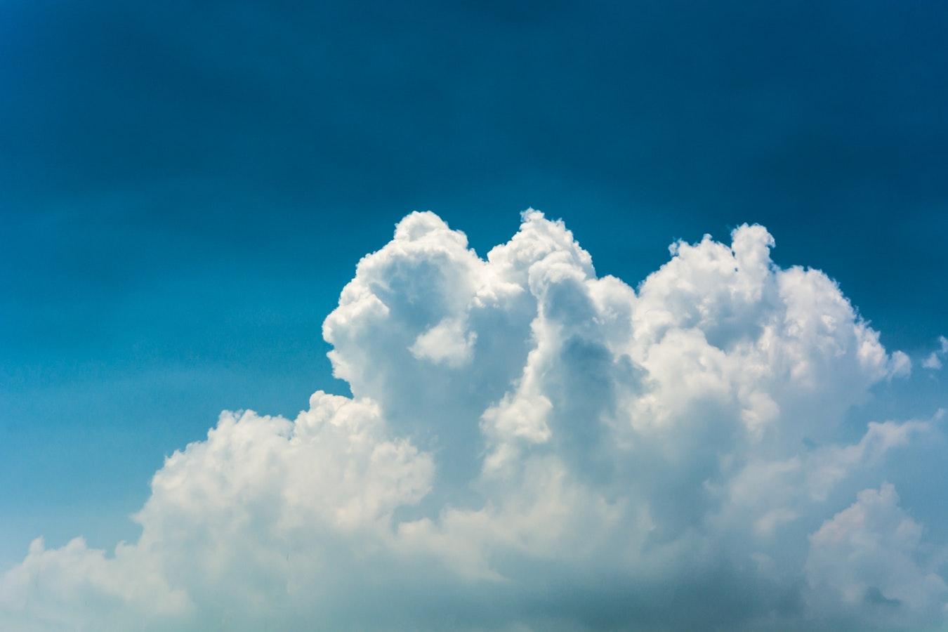 Небо, синее