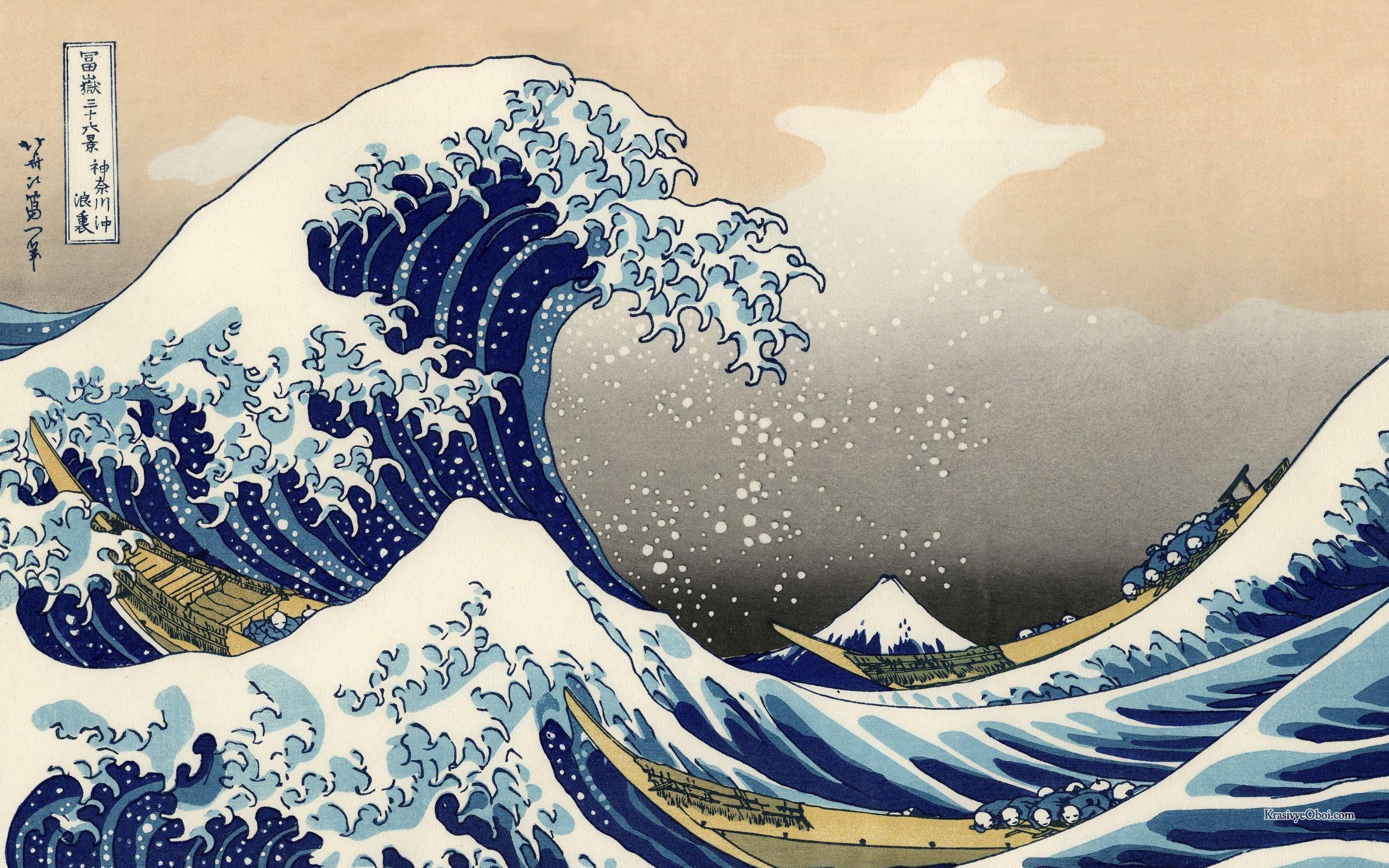 волна, япония, море