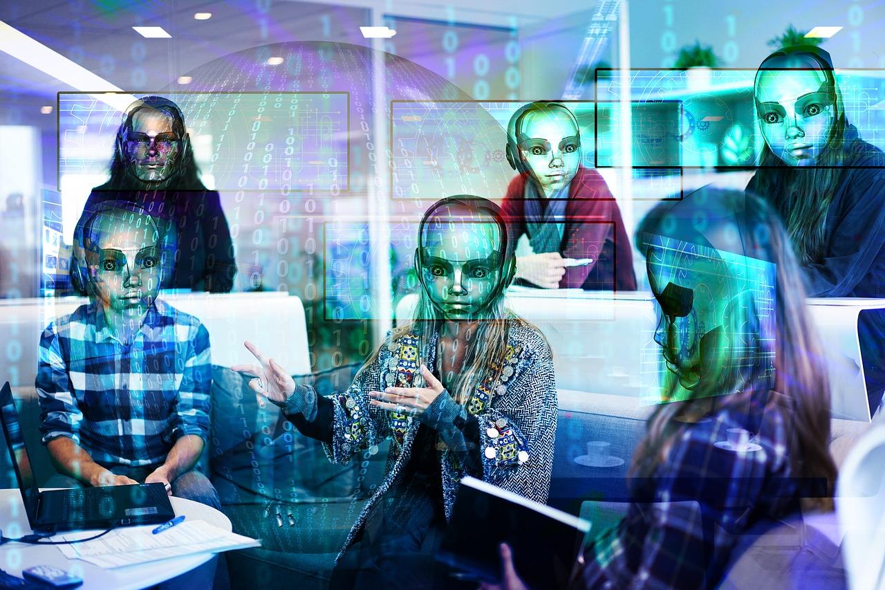 работа, цифровой, робот, будущее