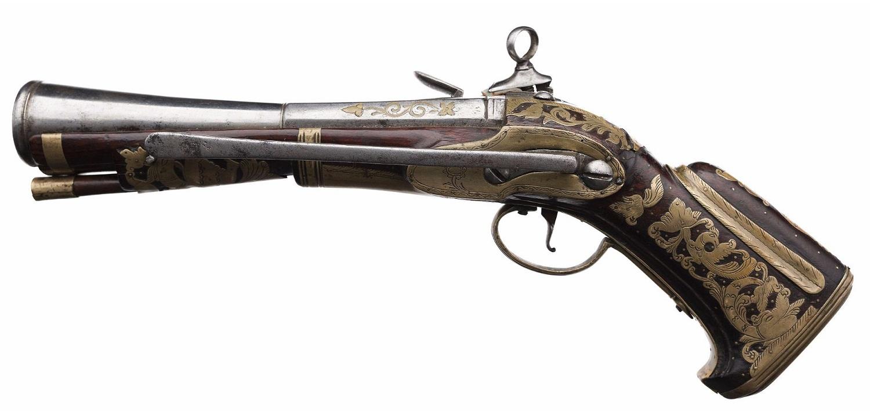 Испанский мушкетон-пистолет с латунным прибором