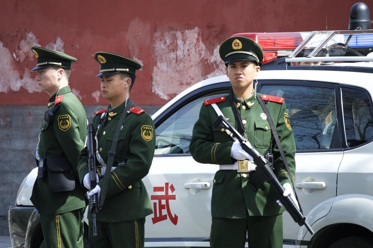Китай, Азия, полиция, защита