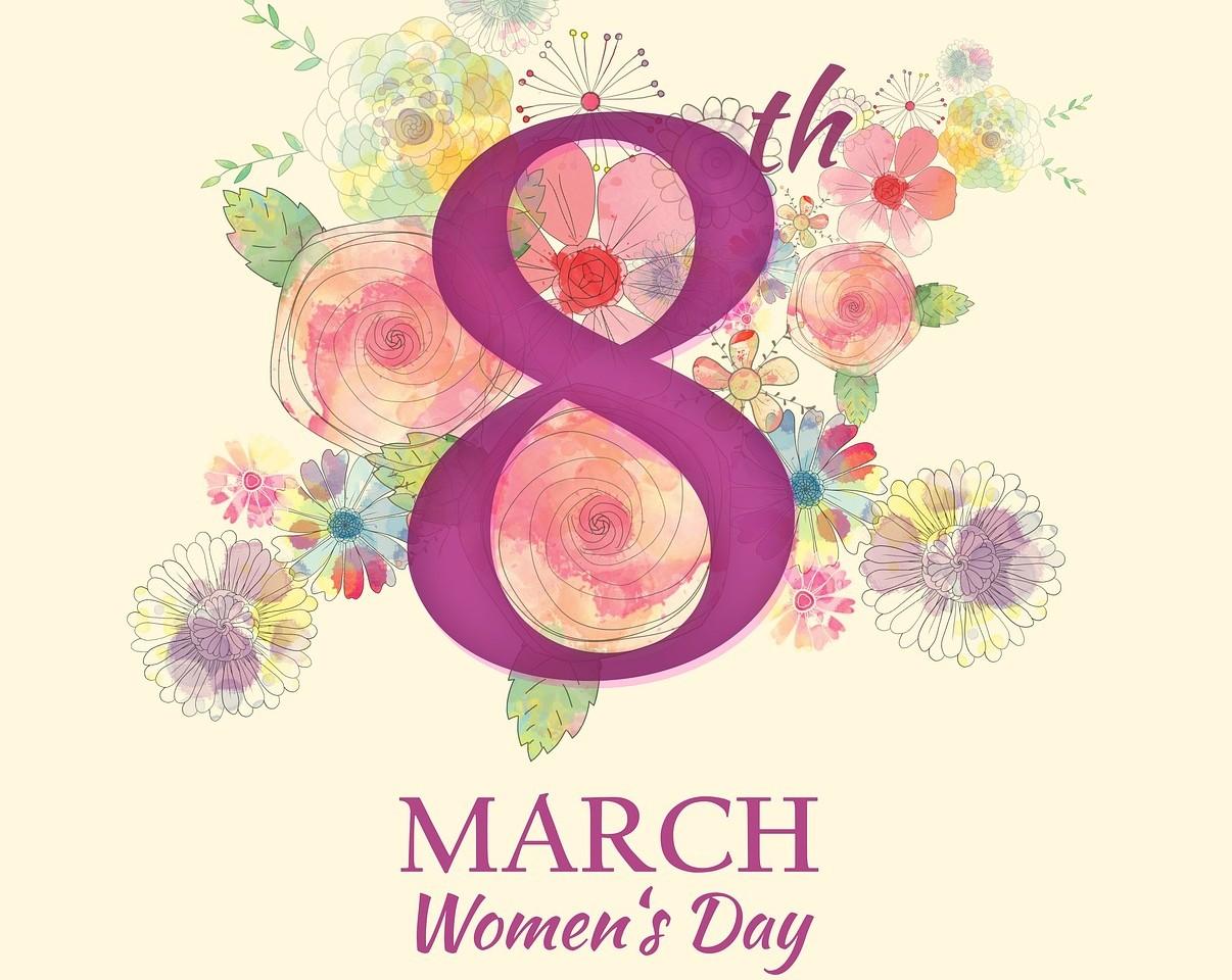 8, восьмое марта, женский день