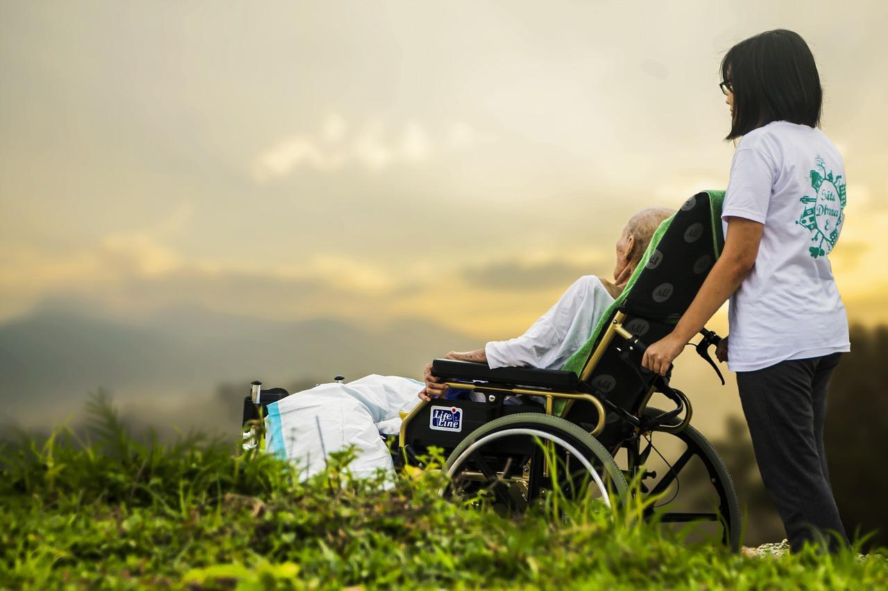 пожилой, парализован, инвалид