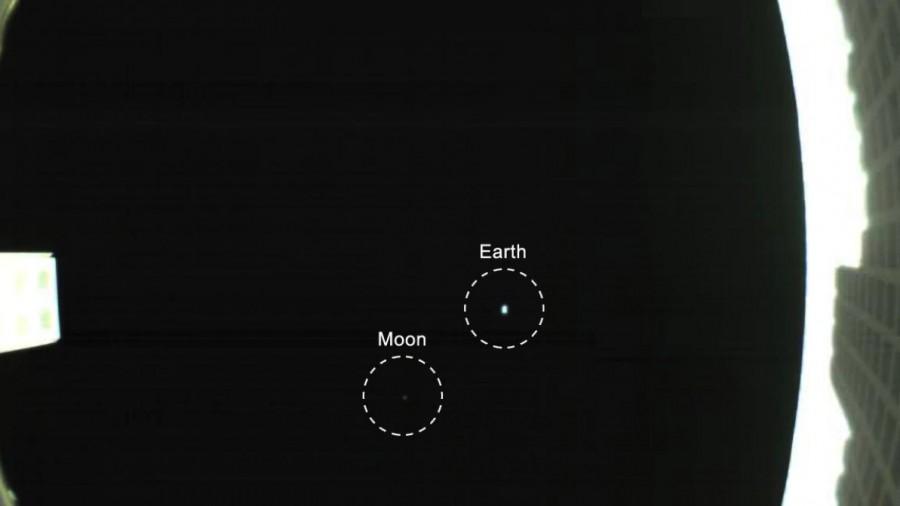 Фото Земли и Луны из космоса