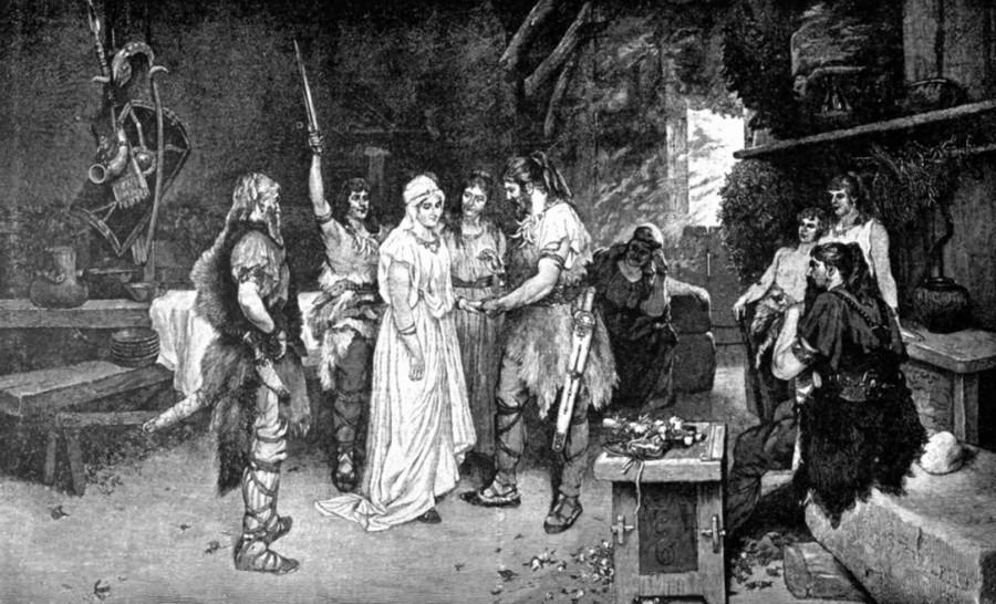 Древние германцы обручение
