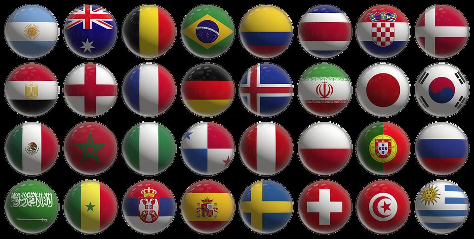 Флаги участников ЧМ-2018