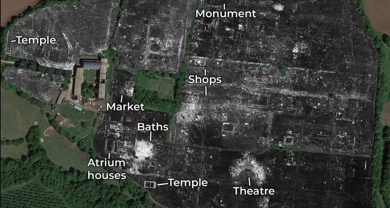 Изучить древнеримский город помогло GPS. Раскопки даже не понадобились